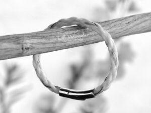 Rund geflochtenes Armband aus Pferdehaar