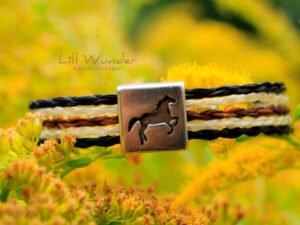 Armband aus Pferdehaar mit Pferde Schieber